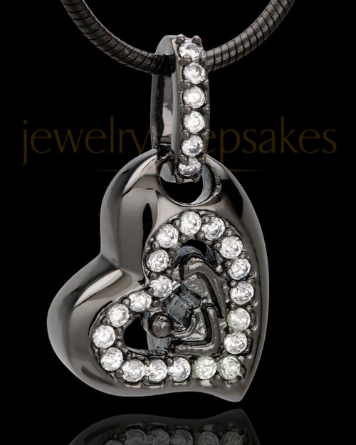 Black Plated Tenderness Keepsake Jewelry