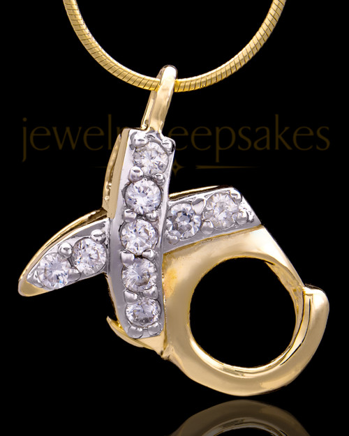 Gold Plated Hugs and Kisses Keepsake Jewelry