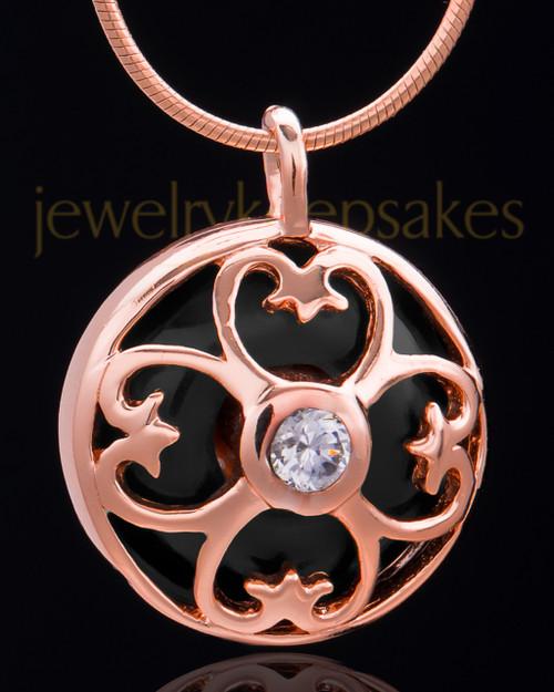 Rose Gold Plated Clover Heart Keepsake Jewelry