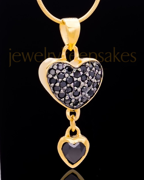 Gold Plated Trickling Heart Keepsake Jewelry