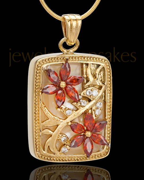 Gold Plated Spring Garden Keepsake Jewelry