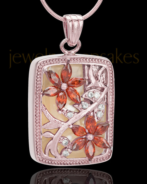 Spring Garden Urn Pendant in Rose Gold