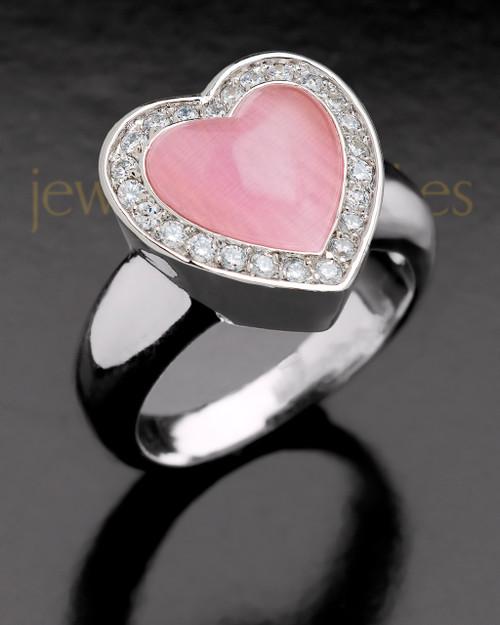Ladies Silver In Love Ring Keepsake Jewelry
