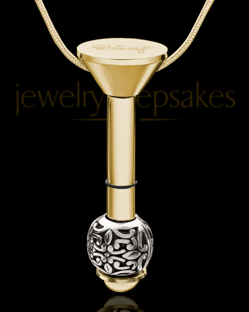 Gold Plated Stainless Millenium Cremation Pendant with Honest Charm