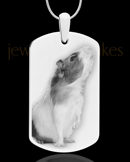 Photo Engraved Large Dog Tag Pet Pendant Stainless Steel