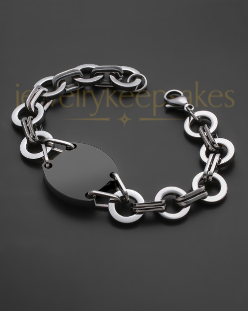Black and Stainless Dedicated Bracelet