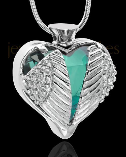 Stainless Steel Turquoise Fond Emotions Jewelry Keepsake