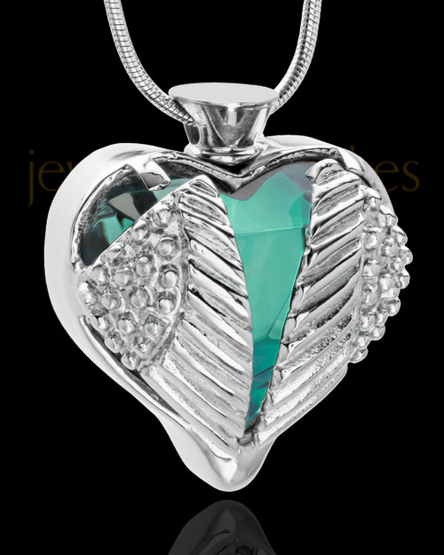 Stainless Steel Turquoise Fond Emotions Jewelry Keepsake