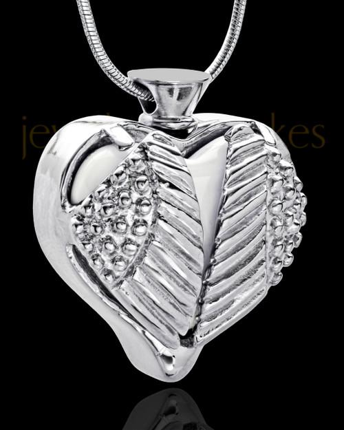 Stainless Steel White Fond Emotions Jewelry Keepsake