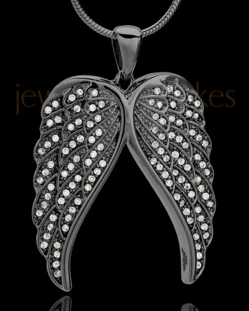 Black Plated Wings of Grace Keepsake Jewelry