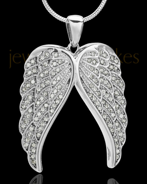 Sterling Silver Wings of Grace Cremation Pendant