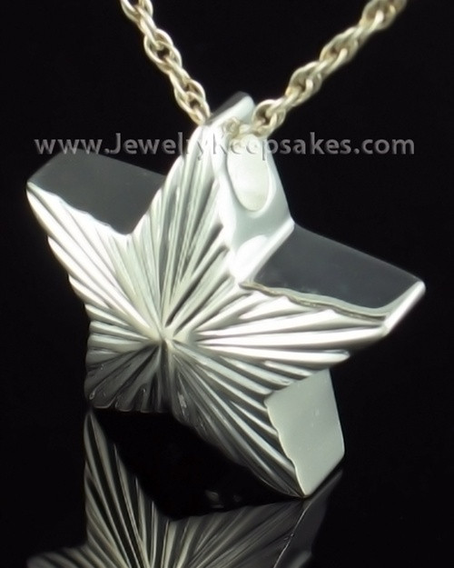 Cremation Charm Sterling Silver Starbright Keepsake