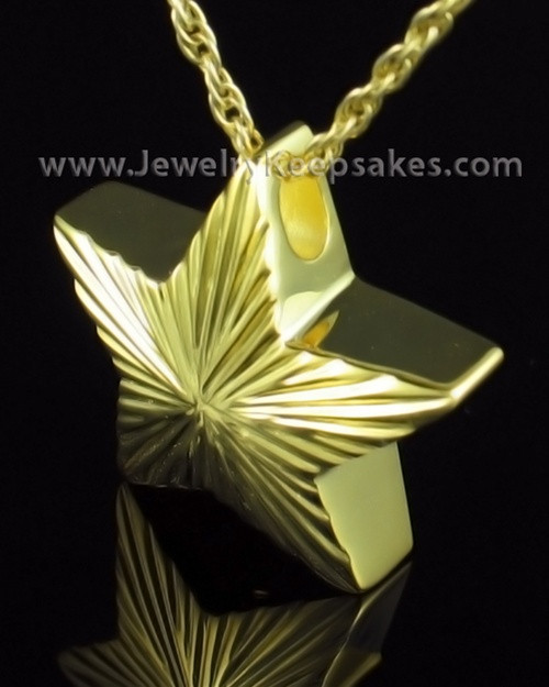 Cremation Charm Gold Plated Starbright Keepsake