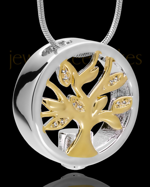 Sterling Silver Tree of Life Cremation Pendant