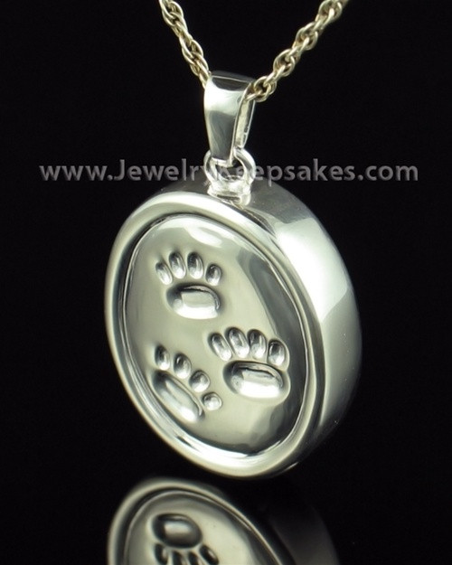 Cremation Necklace Sterling Silver By Your Side Oval Keepsake