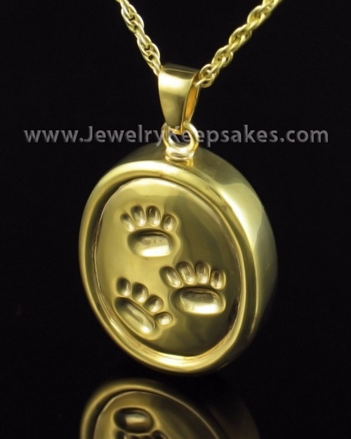 Cremation Necklace Gold Plated By Your Side Oval Keepsake