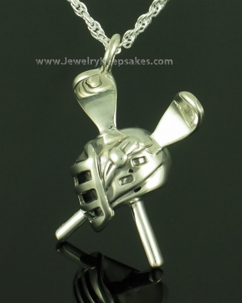 Memorial Pendant Sterling Silver LAX Keepsake
