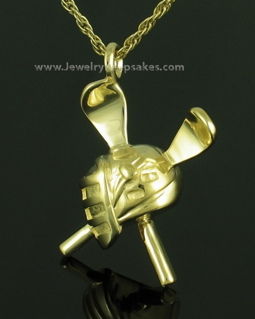 Memorial Pendant Gold Plated LAX Keepsake