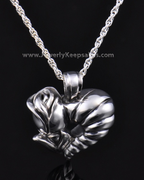Memorial Locket Sterling Silver Roses Heart Keepsake