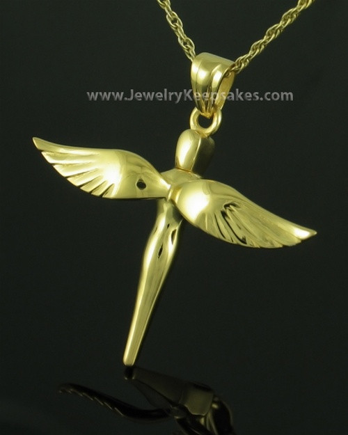 Necklace Urn Gold Plated Starling Keepsake