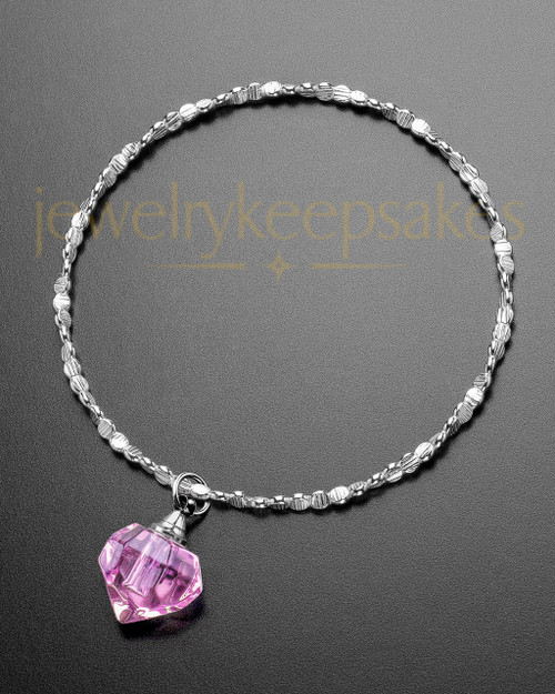 Luxury Tiny Tear Sterling Cremation Bracelet