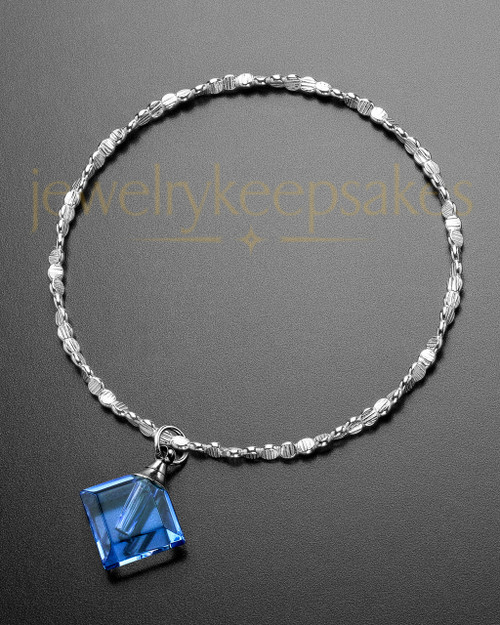 Luxury Blue Fascination Sterling Cremation Bracelet