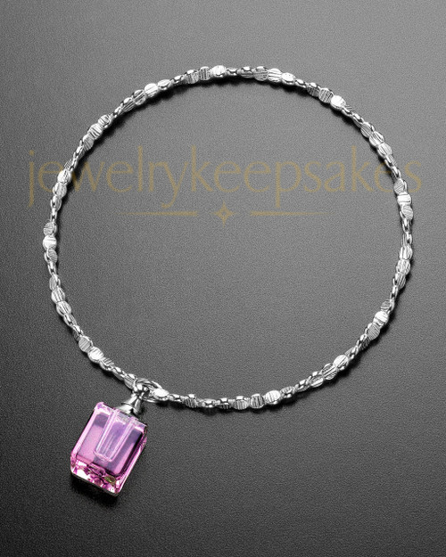Luxury Pink Darling Sterling Cremation Bracelet