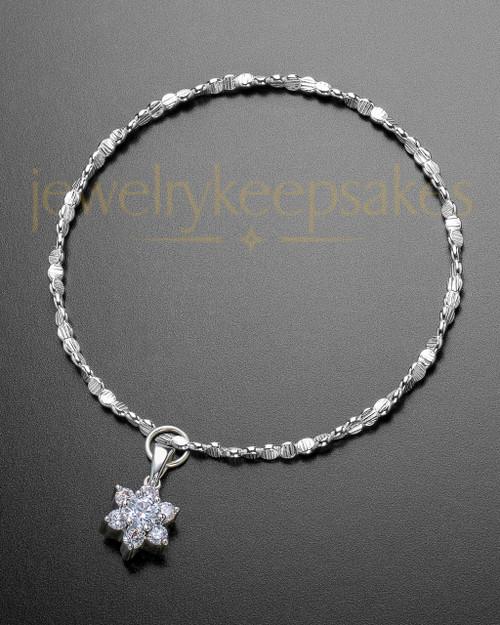 Luxury Burst of Light Sterling Cremation Bracelet