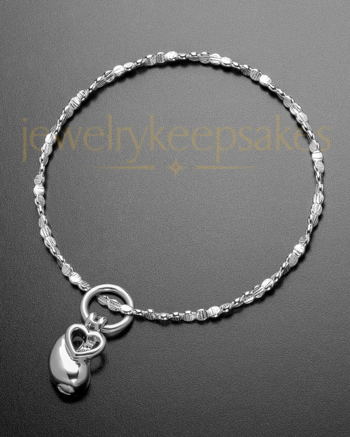 Luxury Together as One Memorial Sterling Bracelet