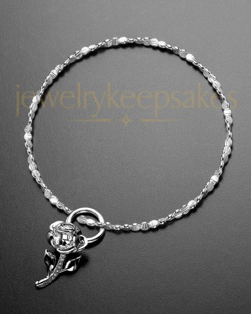 Luxury Confident Rose Sterling Ashes Bracelet