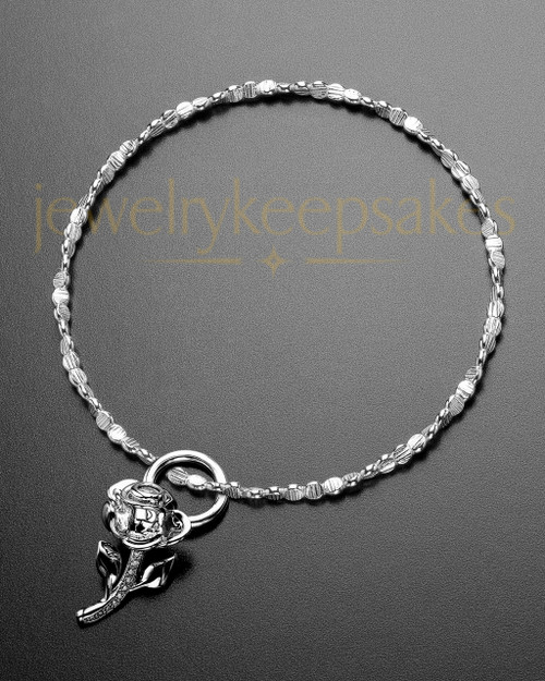 Luxury Confident Rose Sterling Ashes Bracelet