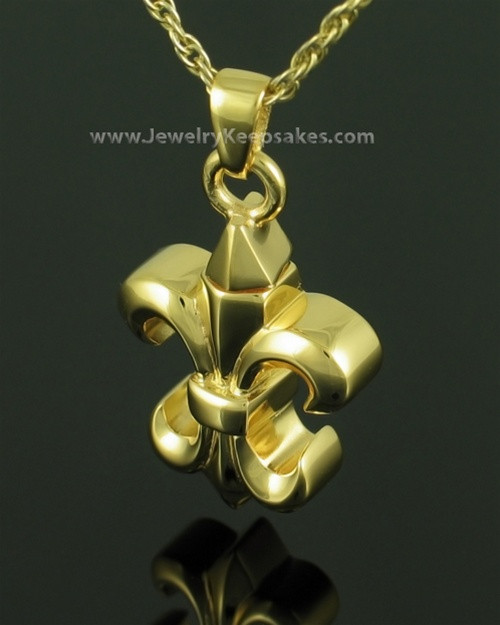 Cremation Necklace Gold Plated Knight Keepsake