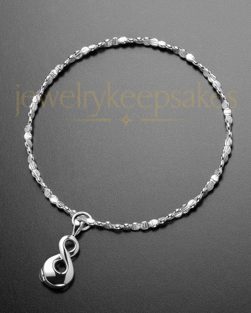 Luxury Perpetual Love Sterling Cremation Bracelet