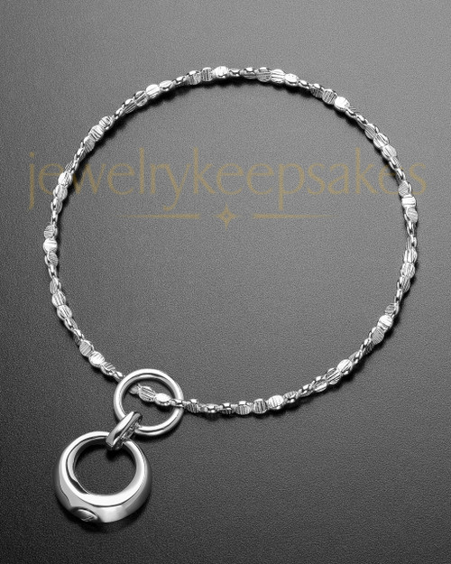 Luxury Endless Round Sterling Cremation Bracelet