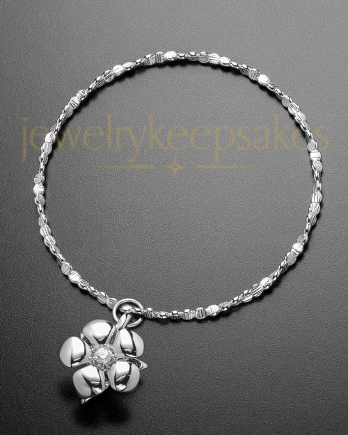 Luxury Blooming Sterling Cremation Bracelet