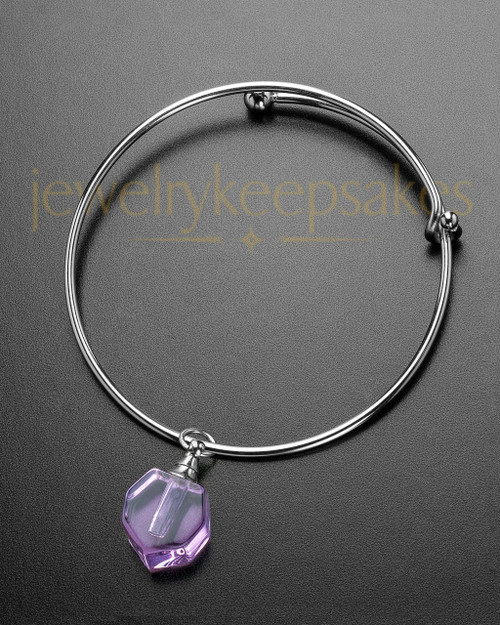 Sophisticate Lavender Petite Teardrop Cremation Bracelet