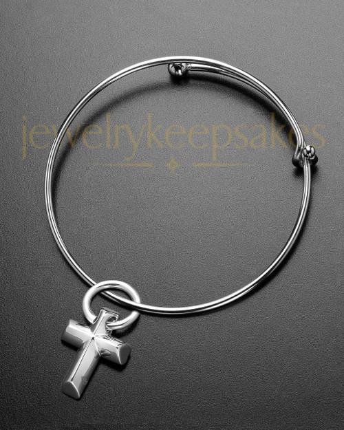 Sophisticate Compact Cross Cremation Bracelet