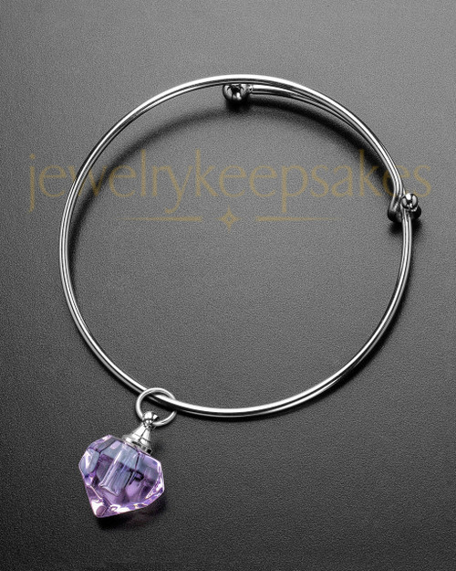 Sophisticate Violet Teardrop Cremation Bracelet