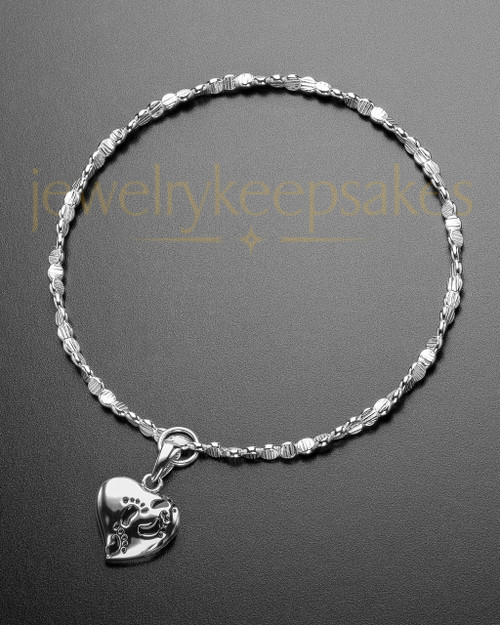 Luxury Journey To My Heart Sterling Cremation Bracelet
