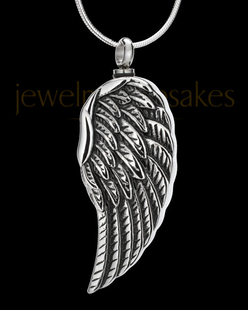 Stainless Steel Feathers Cremation Pendant