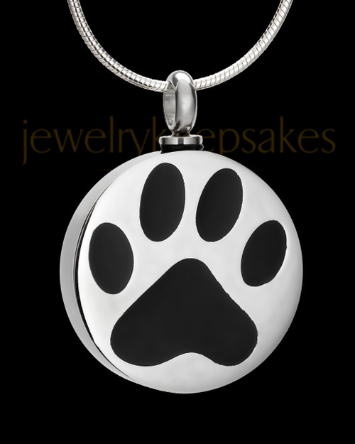 Stainless Steel Dog Pawed Pet Cremation Jewelry