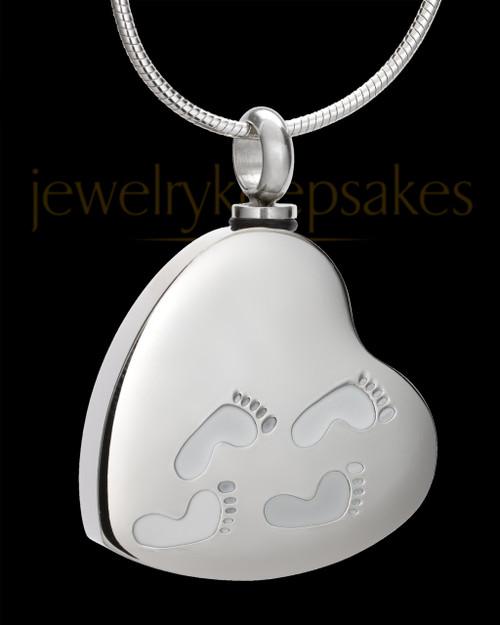 Silver My Journey Heart Memorial Jewelry