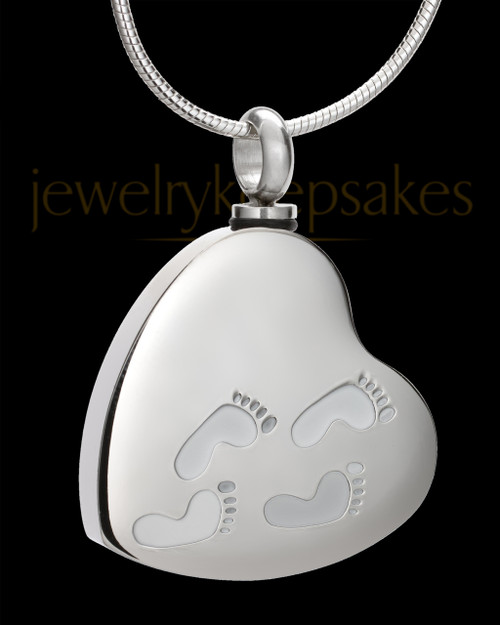 Silver My Journey Heart Memorial Jewelry