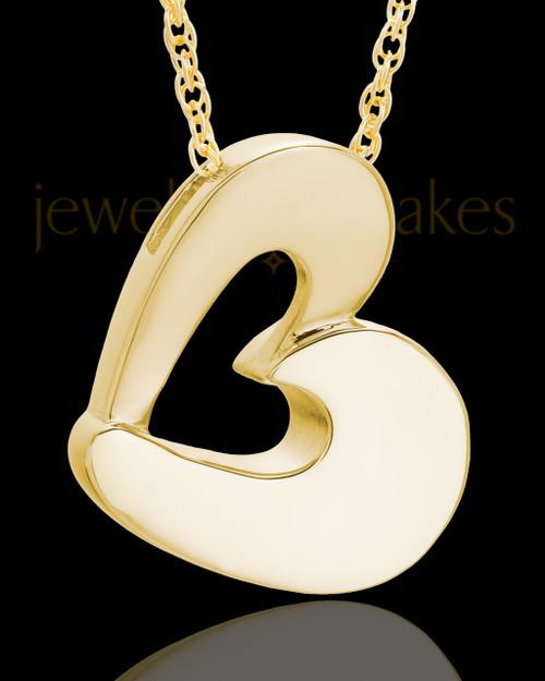 Urn Jewelry Gold Plated Chic Heart Keepsake