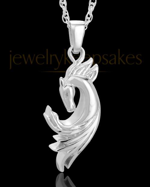 Necklace Urn Sterling Silver Wild Horse Keepsake