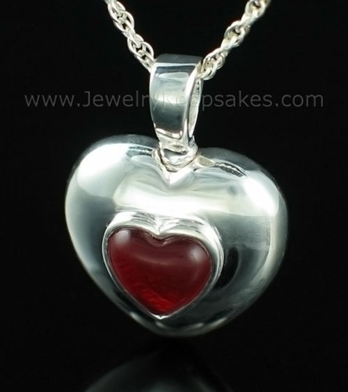 Keepsake Pendant Sterling Silver January Heart