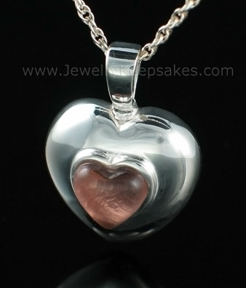 Keepsake Pendant Sterling Silver February Heart
