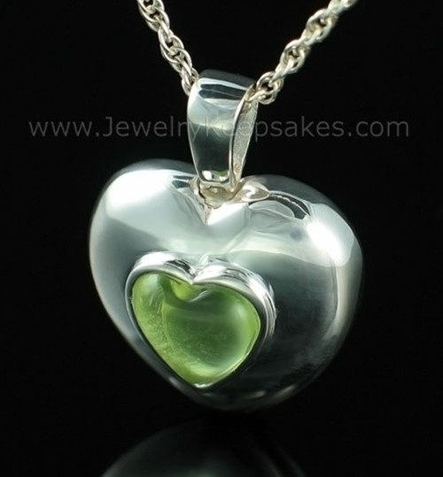 Keepsake Pendant Sterling Silver March Heart Keepsake