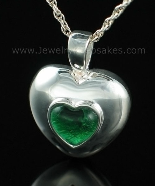 Keepsake Pendant Sterling Silver May Heart Keepsake