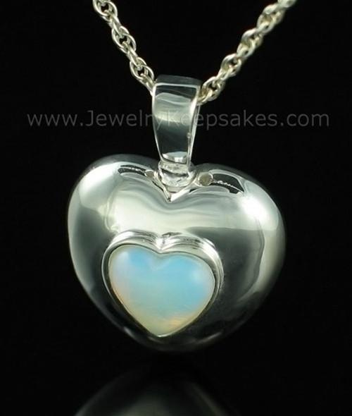 Keepsake Pendant Sterling Silver June Heart